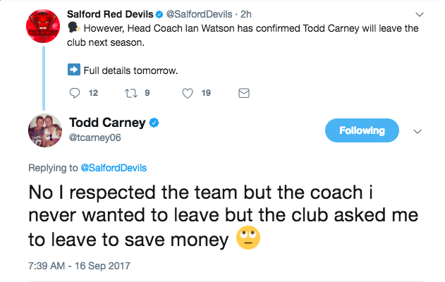 Carney twitter