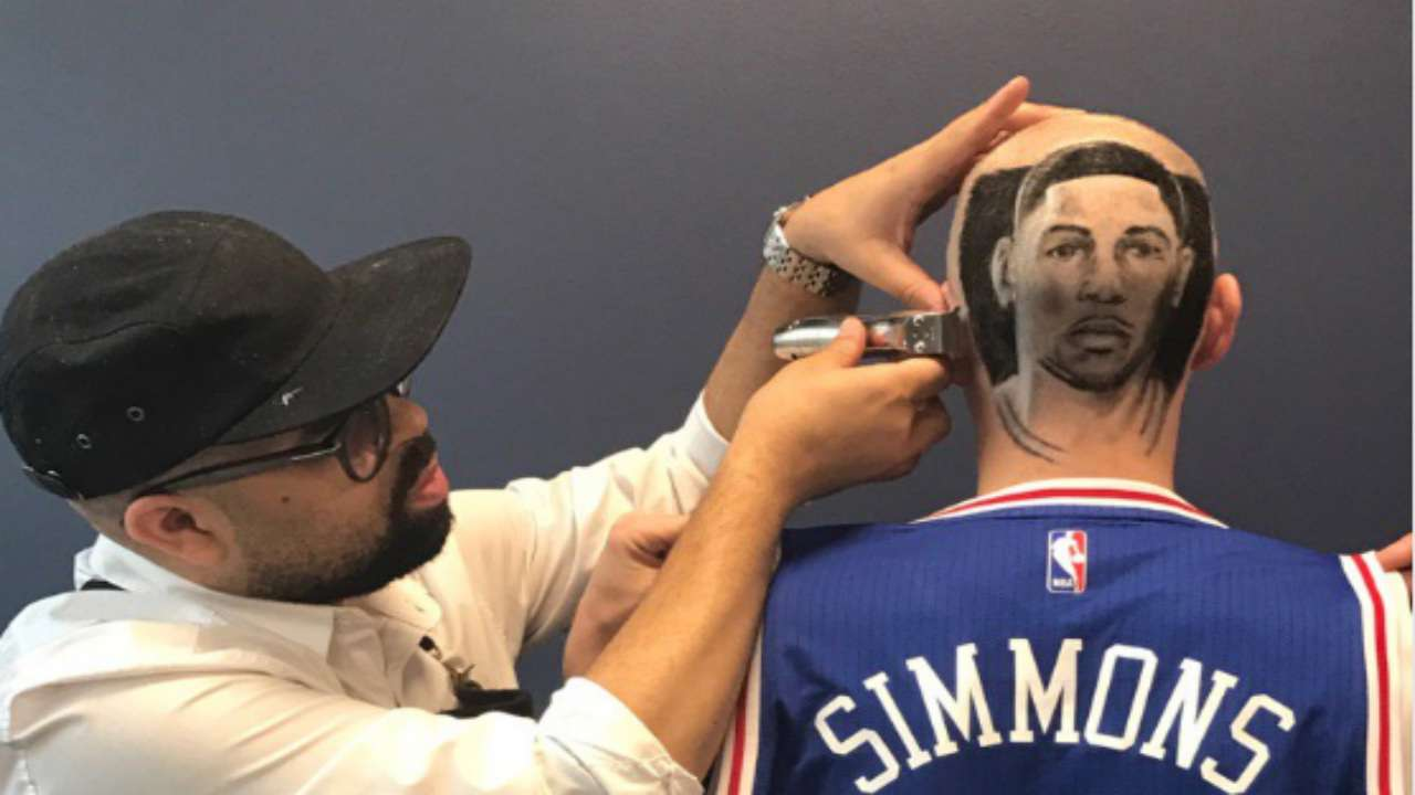 Sixers front-office executive gets Ben Simmons shaved into his head