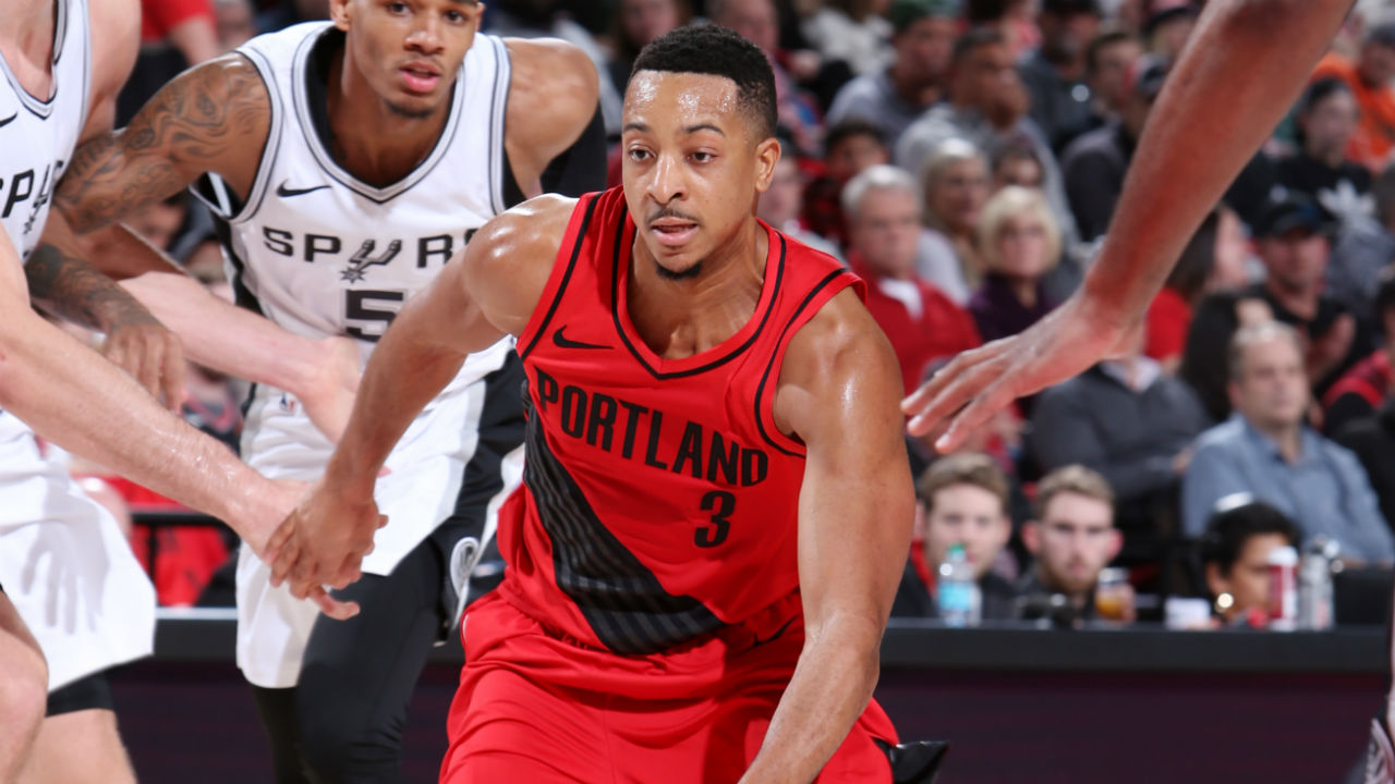 McCollum's floater gives Portland 111-110 win over Spurs