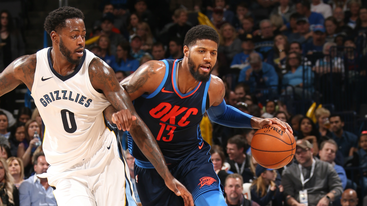 George leads short-handed Thunder over Memphis