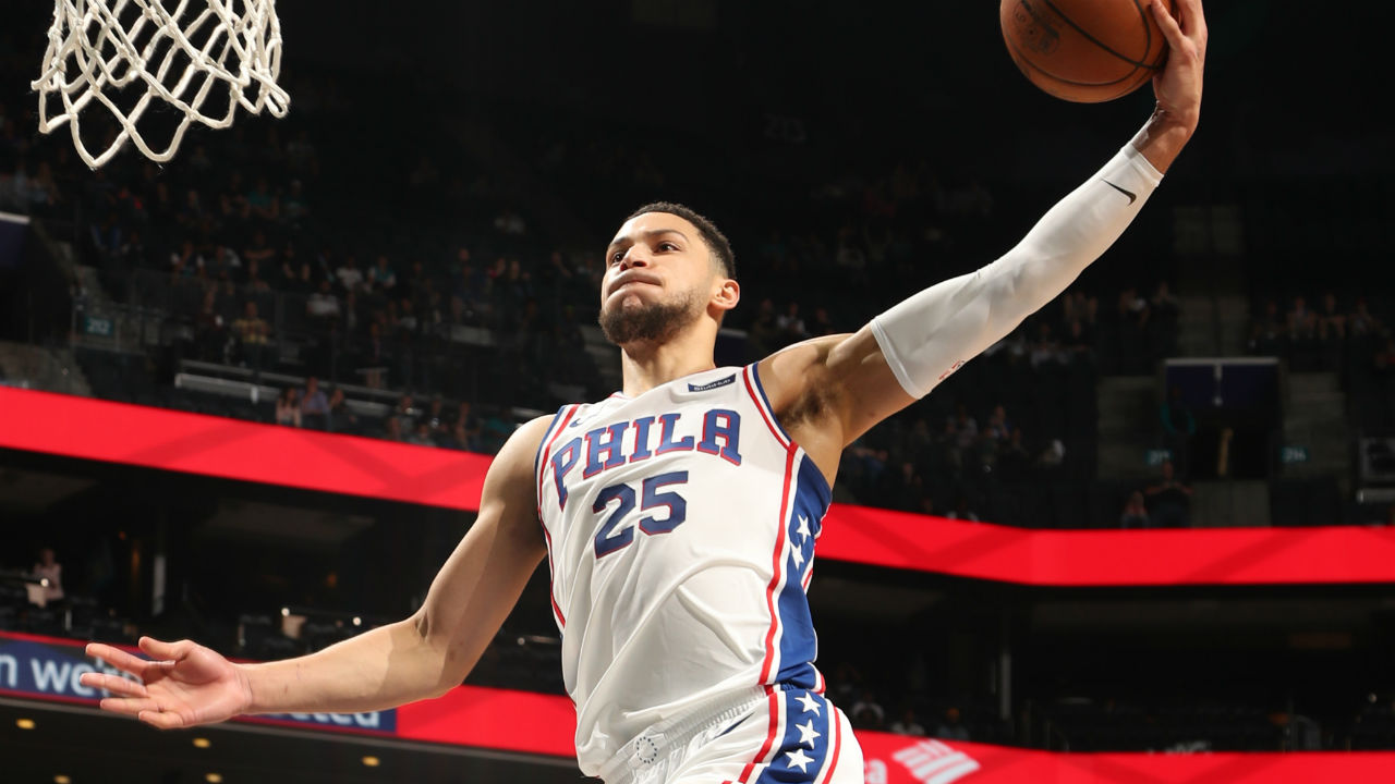 LeBron makes pair of three-pointers, Simmons secures 10th win for 76ers