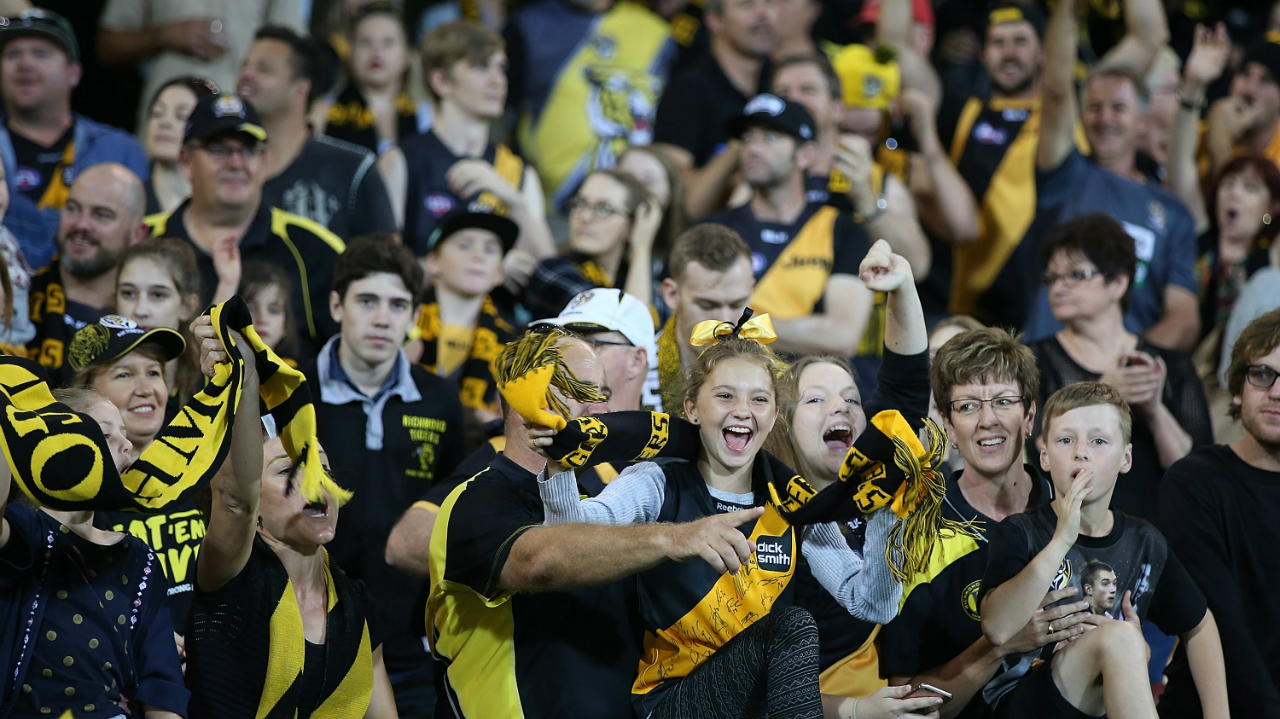 #Richmond Tigers supporters fans