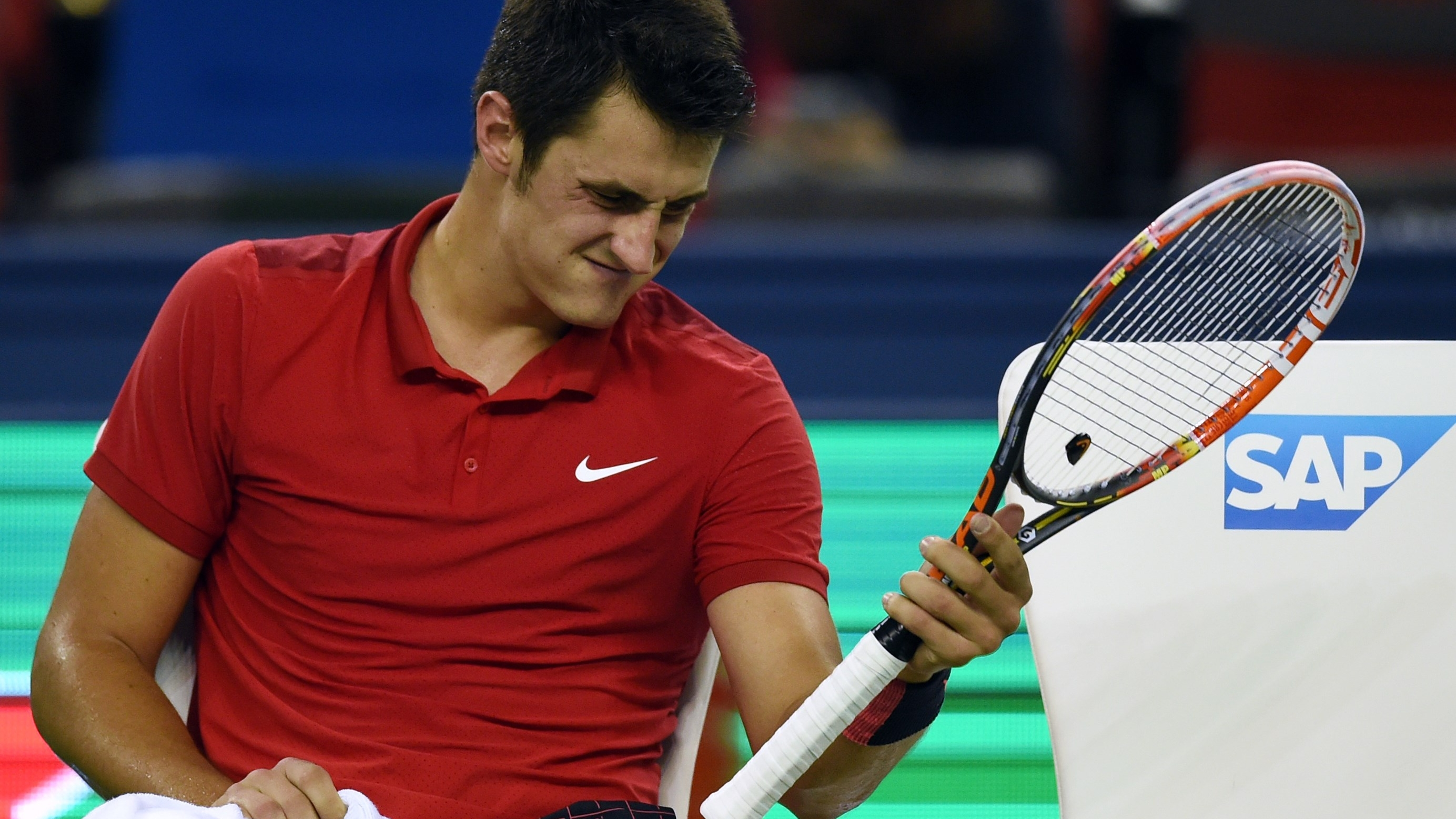 Tomic Shot Down By Veteran Baghdatis Tennis Sporting News