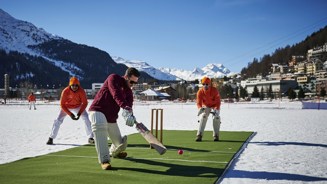 Legends of the game star in cricket on ice cricket sporting news of the worlds biggest cricket names have joined forces to play a match somewhere that doesnt see a lot of australias summer pastime the swiss alps publicscrutiny Gallery