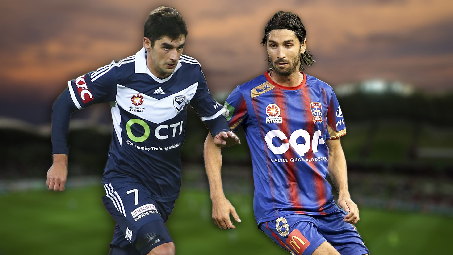 A-League.  Melbourne Victory v Newcastle Jets