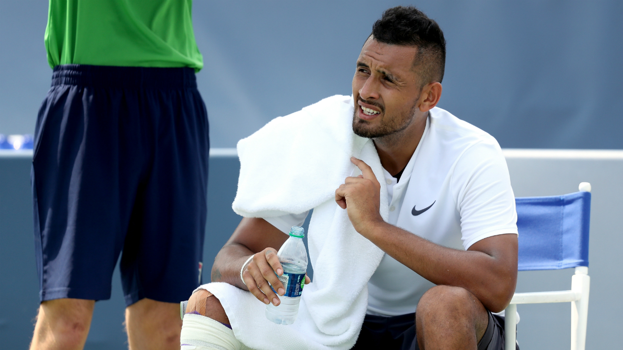 Nick Kyrgios victorious after bizarre Cincinnati encounter