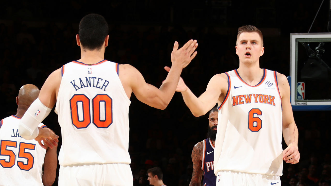 Knicks to be without Kristaps Porzingis, Enes Kanter vs. Rockets
