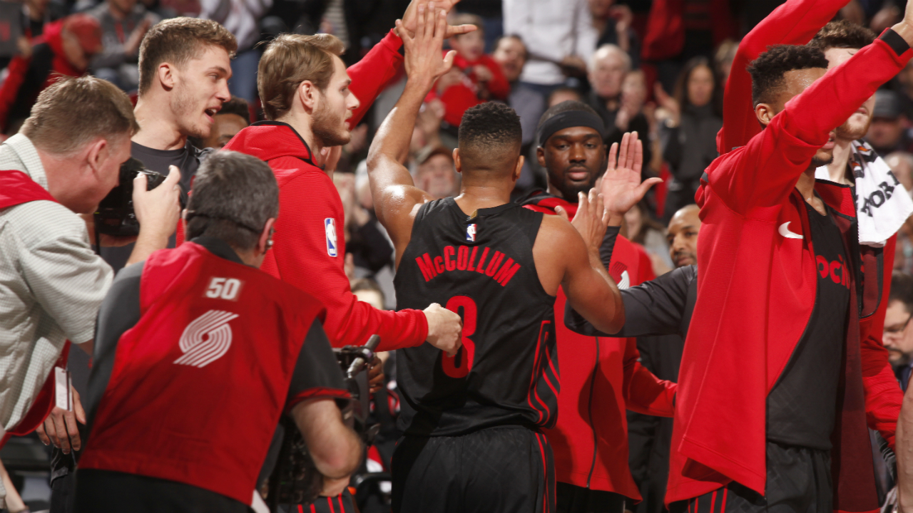 D'Tigers' Aminu shoots perfect-threes to help Blazers beat Bulls