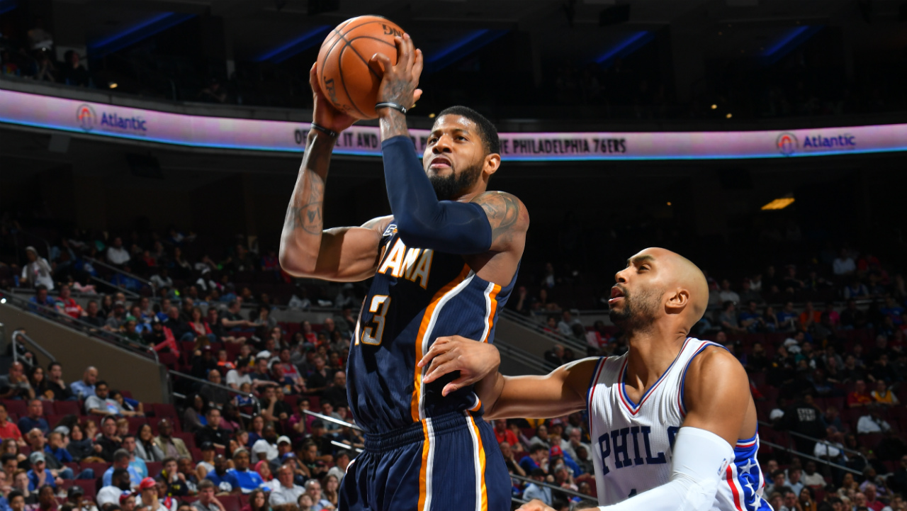 Paul George tossed from game after tangling with Gerald Henderson