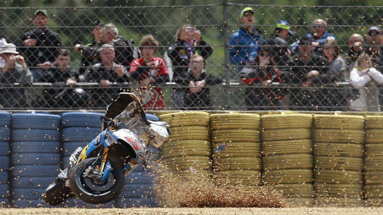 WATCH: Aussie Somehow Walks Away From Horror MotoGP Crash