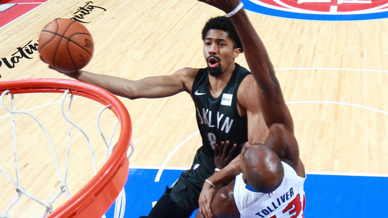 Spencer Dinwiddie Comes Up Clutch In Nets' Win Over Pistons