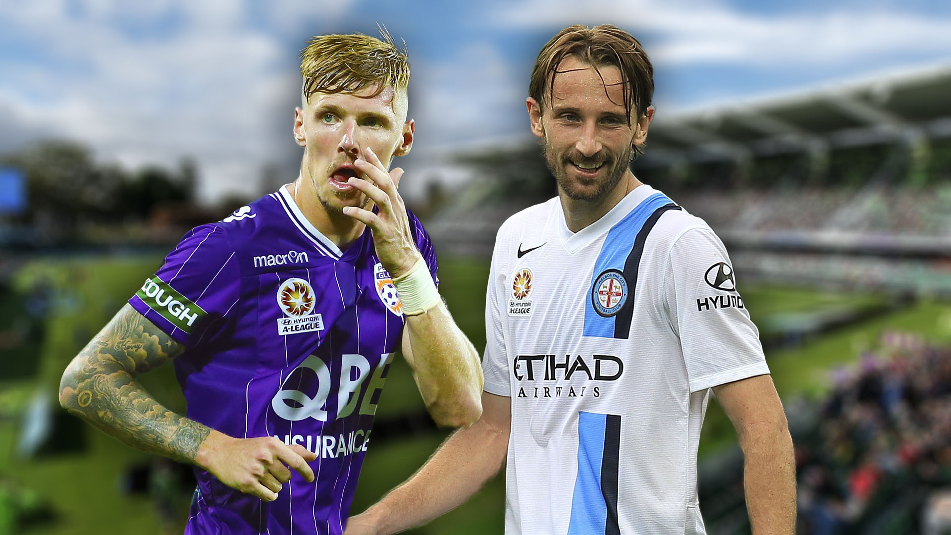 A-League. Perth Glory v Melbourne City