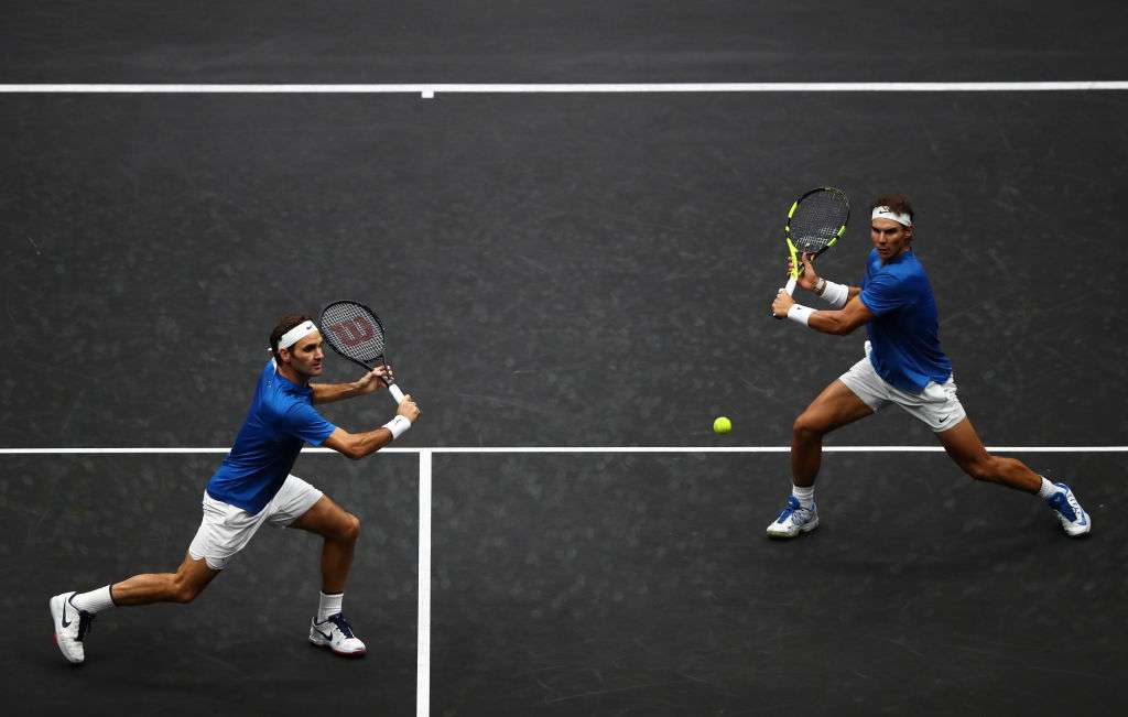 Federer and Nadal join forces while Kyrgios wins again at Laver Cup