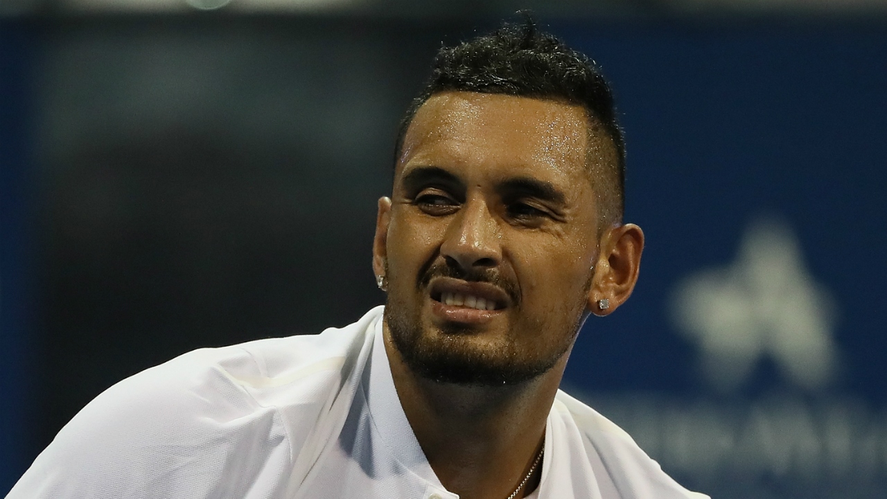 Atlanta Open: Nick Kyrgios booed off court after retiring hurt