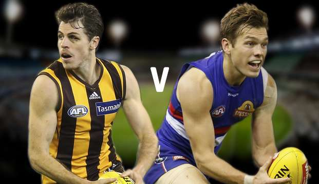 AFL. Hawks vs Bulldogs