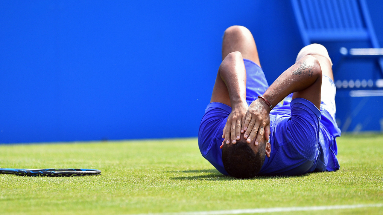 Kyrgios retires injured at Queens, says fit for Wimbledon
