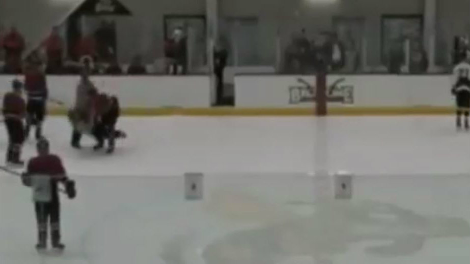 Hockey player viciously attacks official during game