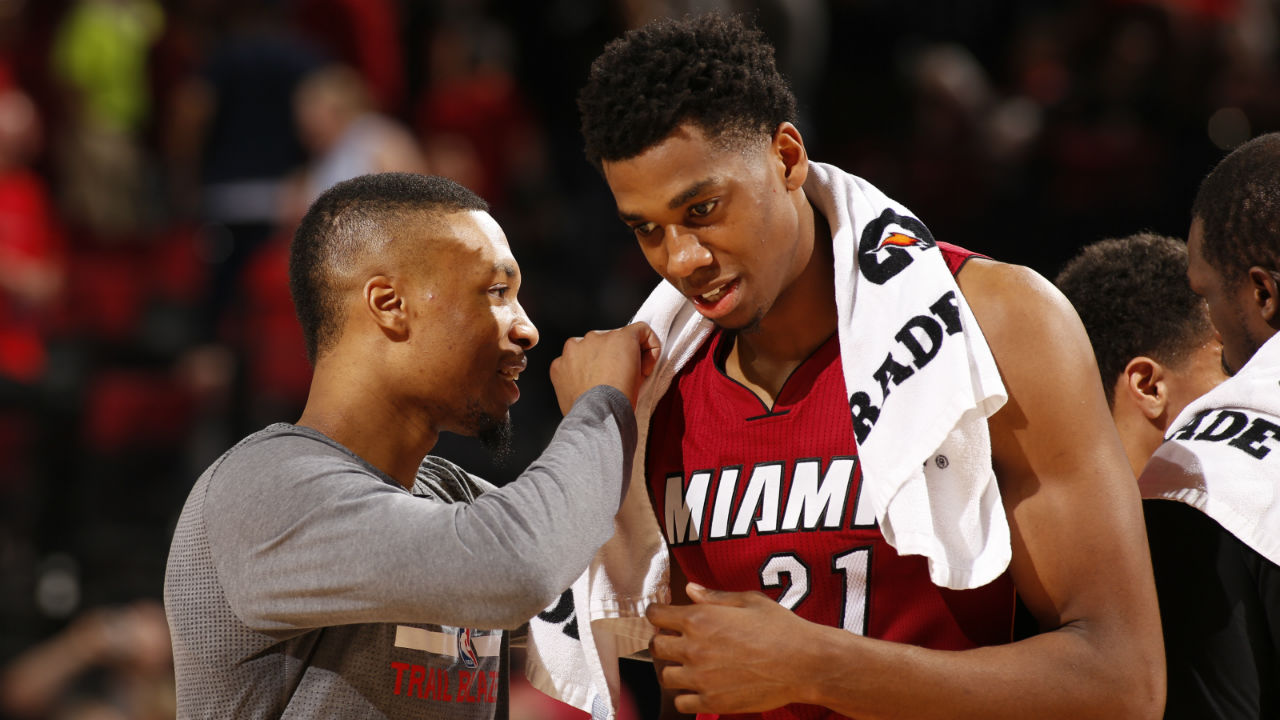 Hassan Whiteside has great reaction to winning East Player of the Week