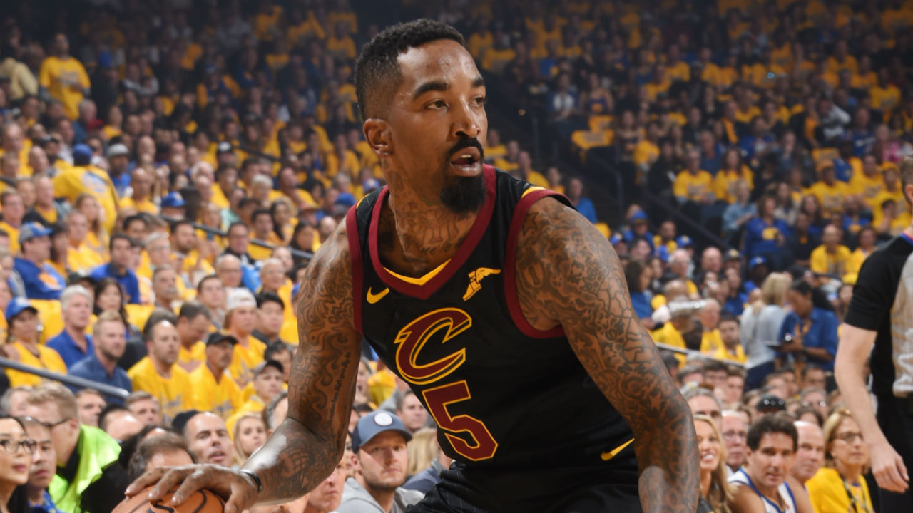 LeBron James Video With J.R. Smith Game 1 Timeout