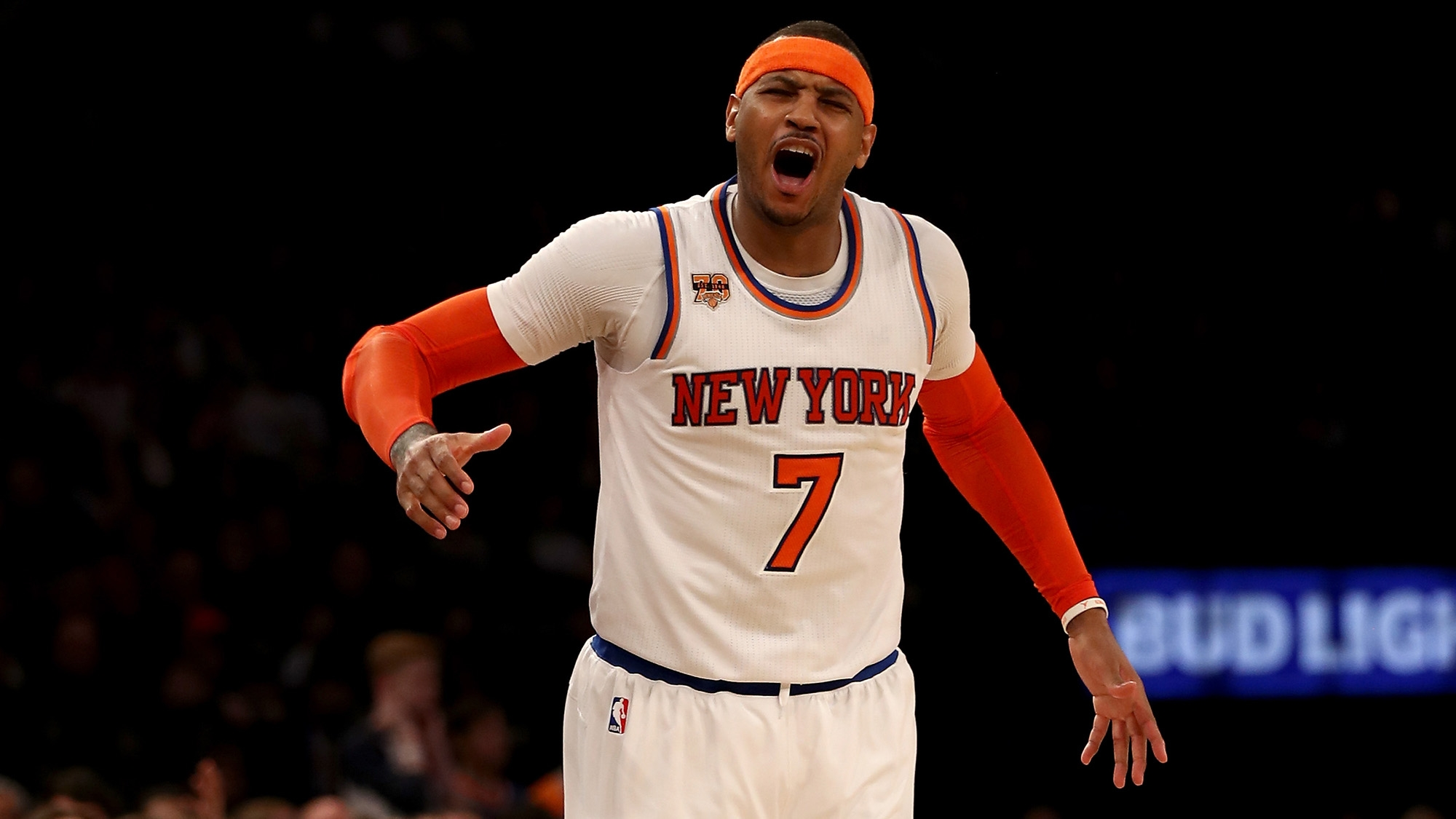 Watch carmelo anthony buries game winning jumper to sink sixers carmelo anthony drained a clutch jump shot with just 03 seconds left on the clock to give the new york knicks a 110 109 victory over the fast finishing voltagebd Choice Image