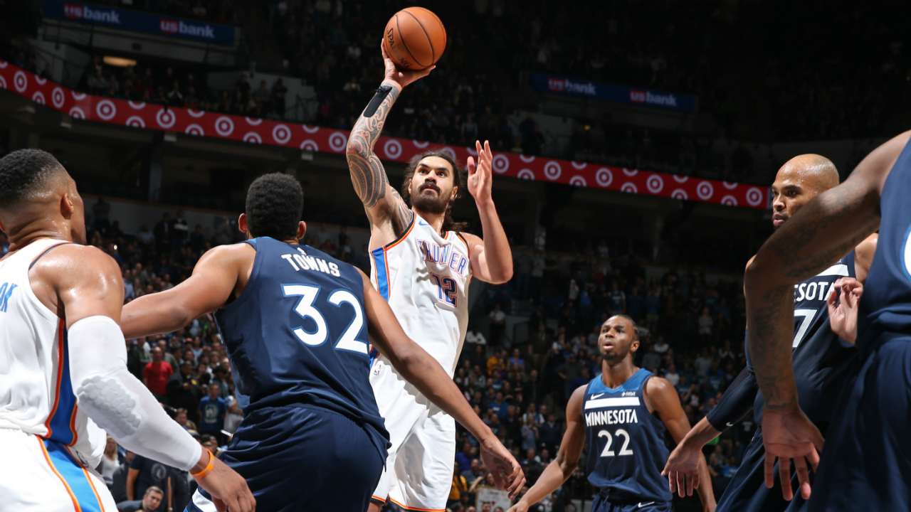 Steven Adams caps flawless night with career high as Thunder defeat Timberwolves