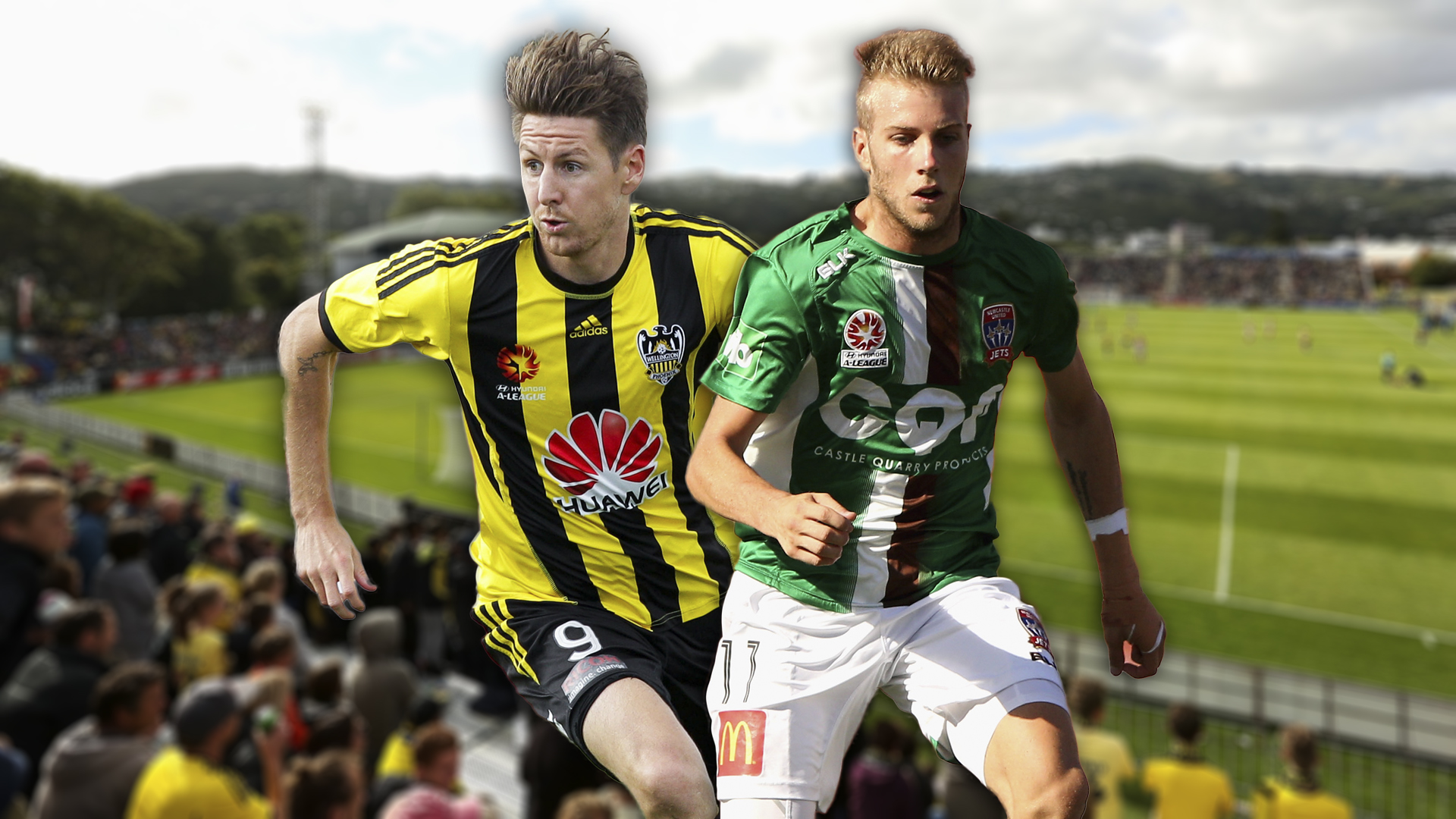 A-League.  Wellington Phoenix v Newcastle Jets