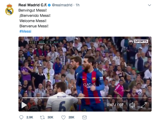 Real Madrid twitter