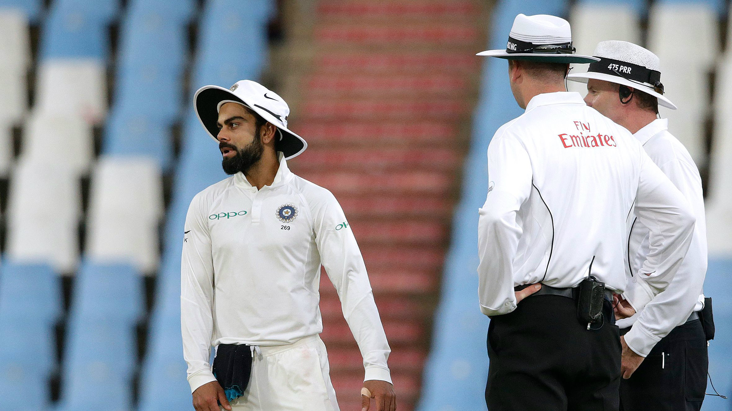 Kohli fined for code breach in Centurion