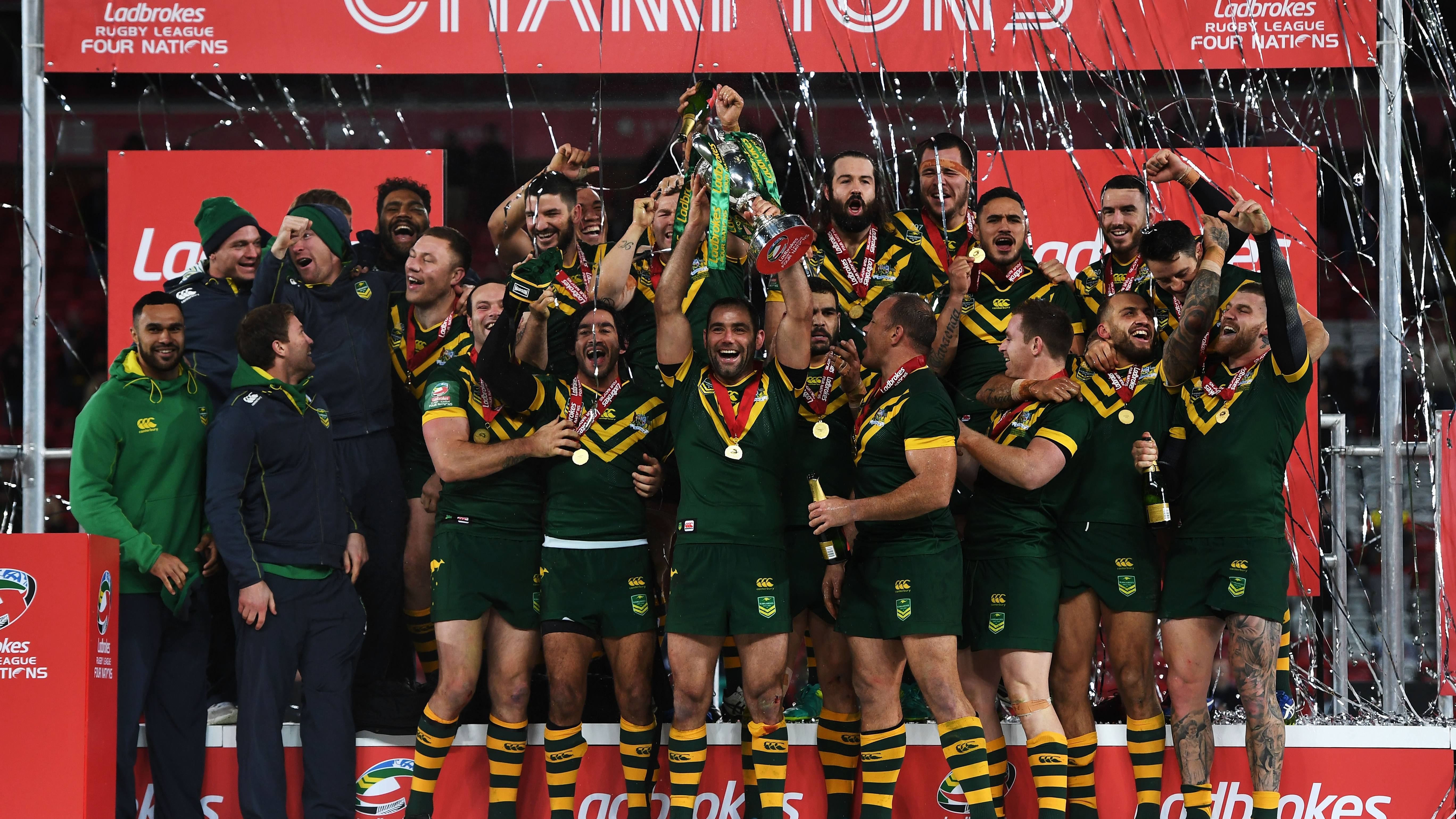 ... Blake Ferguson has been awarded the prestigious honour of best Kangaroos player on tour, as voted by the team after their Four Nations final victory.