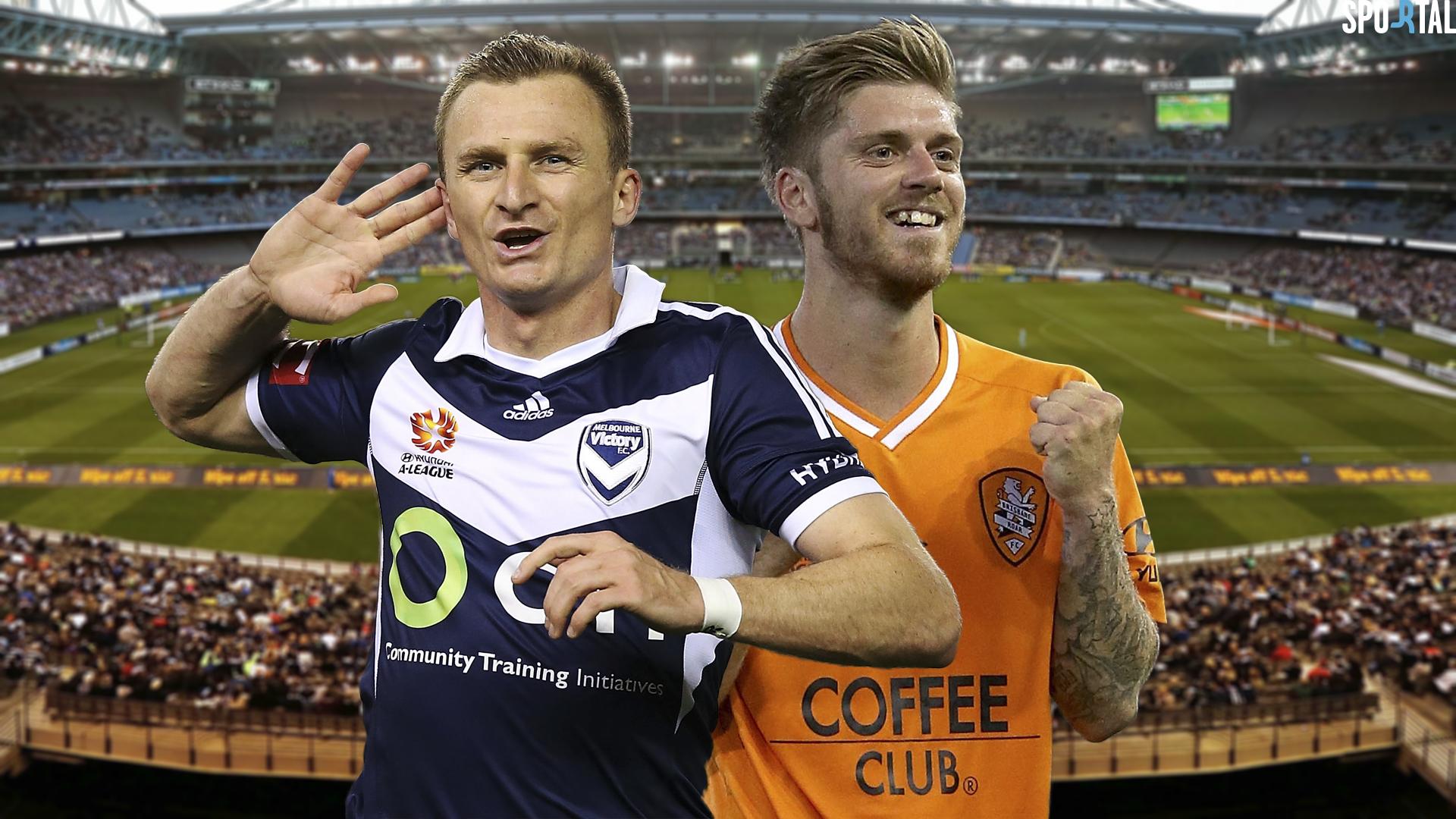 A-League. Melbourne Victory v Brisbane Roar