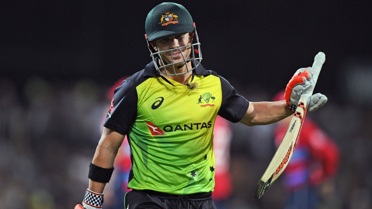 Warner was out for 4 in the Hobart T20I. (Getty)