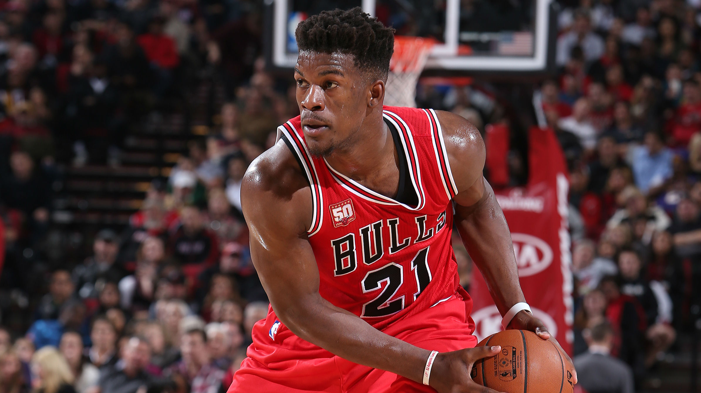 NBA | Jimmy Butler hits one from halfway | SPORTAL