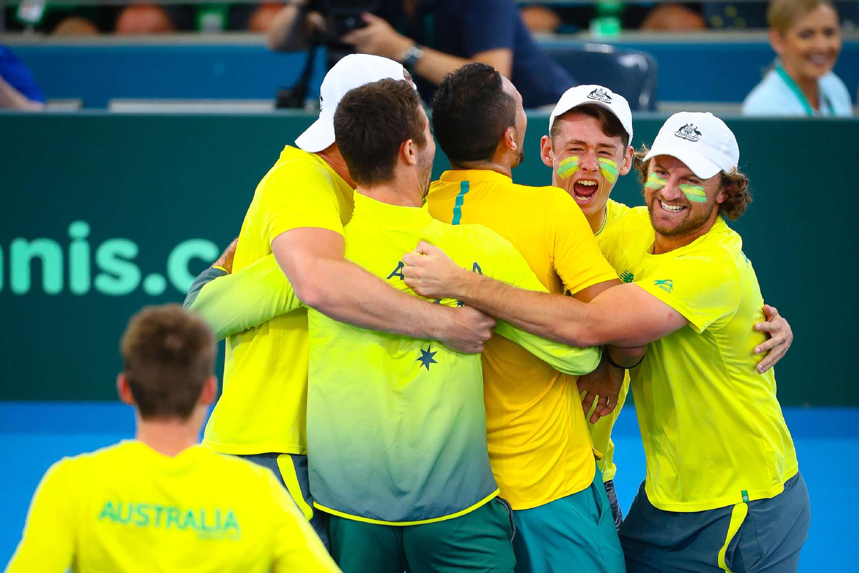 Nick Kyrgios Secures Australia Victory In Davis Cup Quarter Final