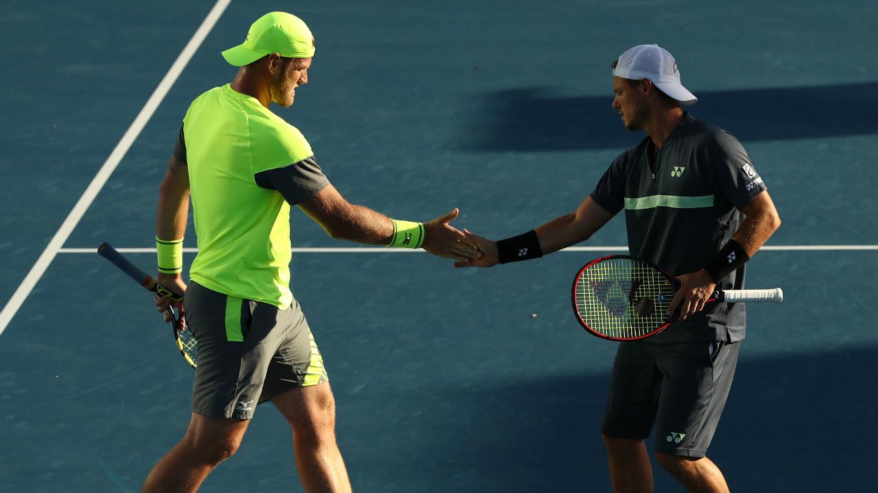 Sam Groth and Lleyton Hewitt ready for Australian Open quarter-finals