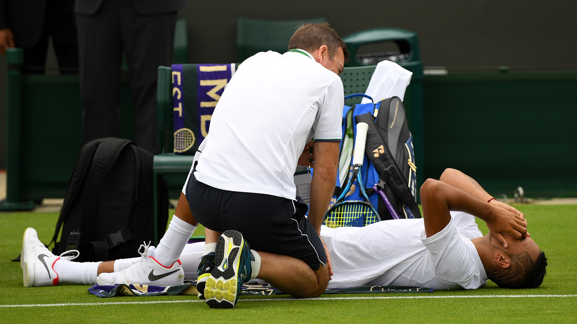 Wimble-DONE: Nick Kyrgios out after an hour on court