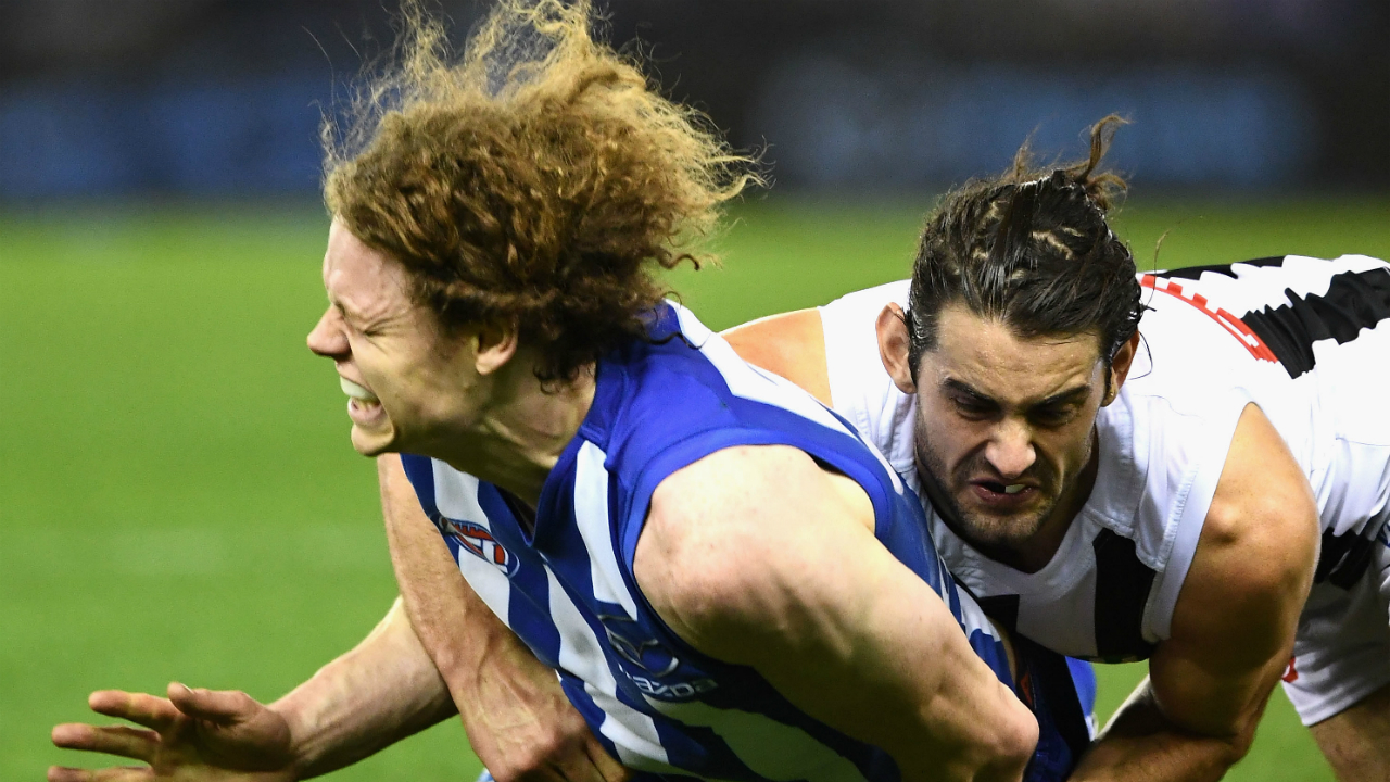 Is Brodie Grundy's tackle worse than Patrick Dangerfield's?