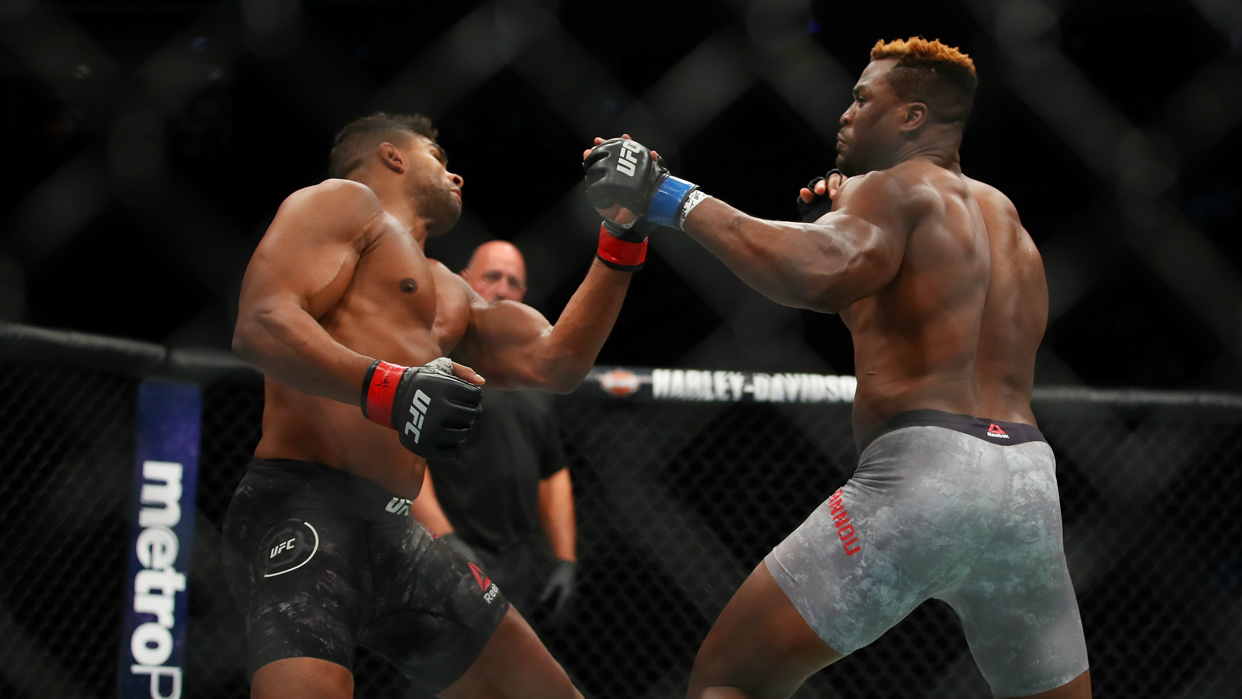 Francis Ngannou lifts Alistair Overeem off his feet with truly terrifying knockout