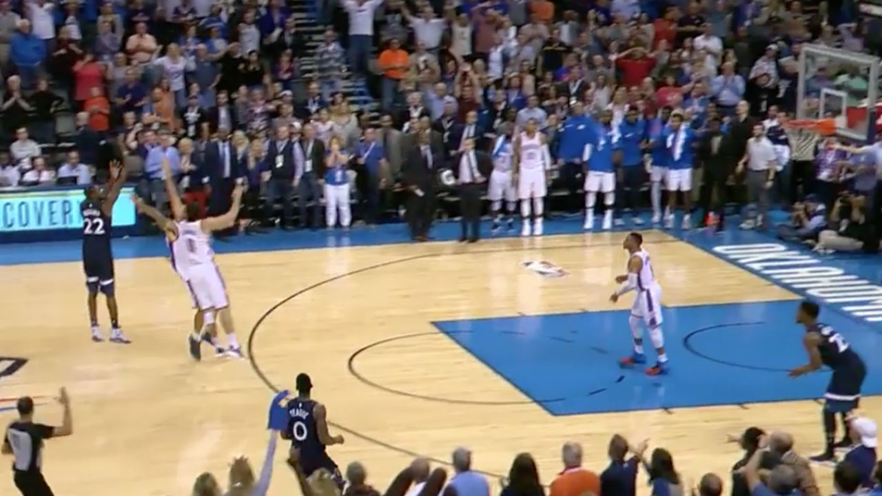 Watch Andrew Wiggins Take Down Oklahoma City Thunder With Incredible 3-Pointer