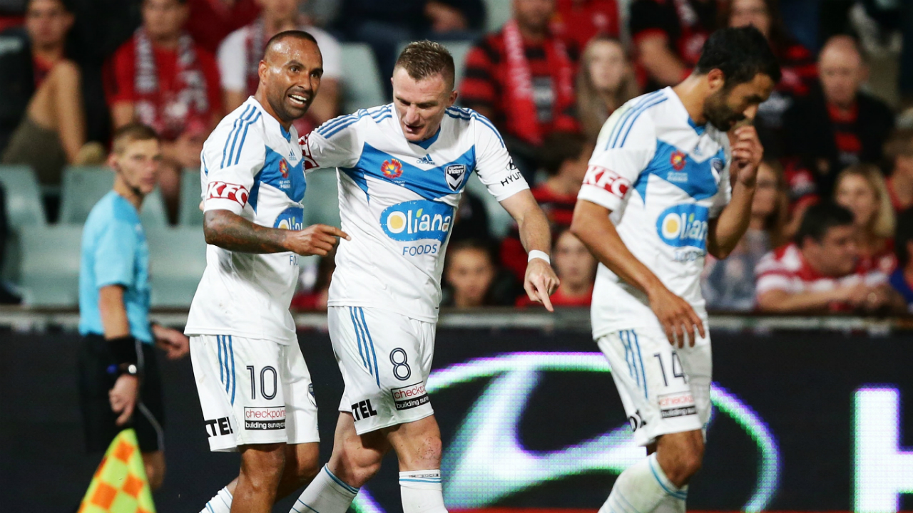 Archie Thompson and Besart Berisha