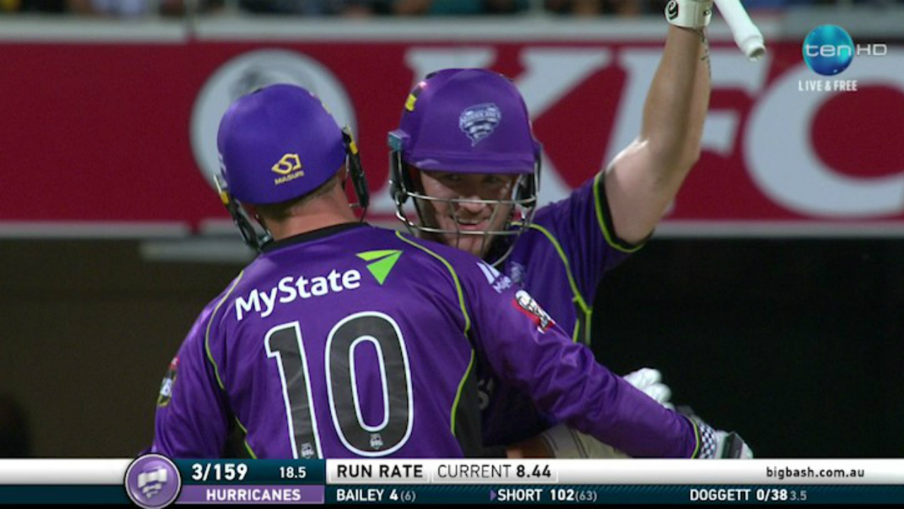 Hurricanes star batsmen D'arcy Short scored highest ever BBL score