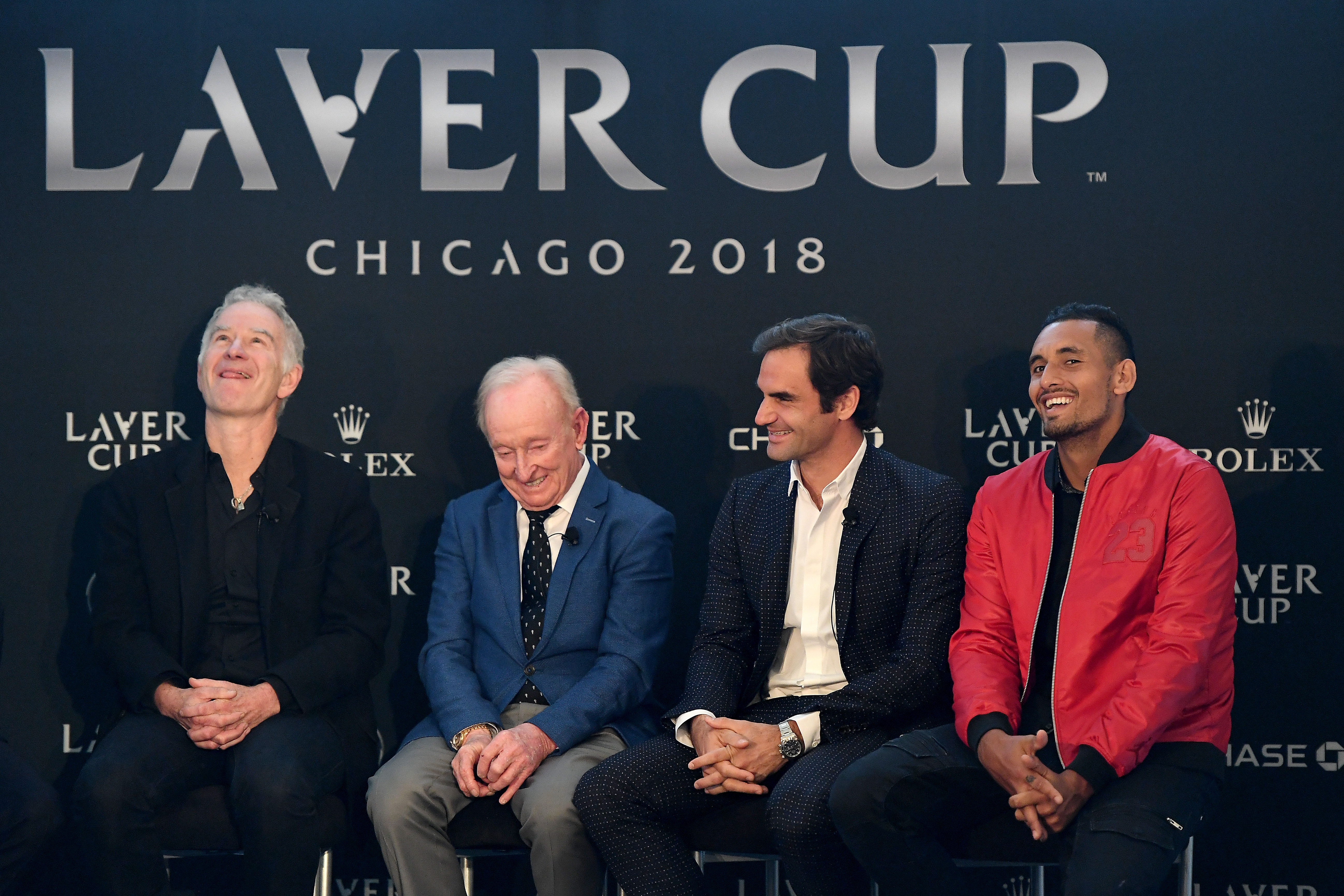 Roger Federer helps launch 2018 Laver Cup in Chicago