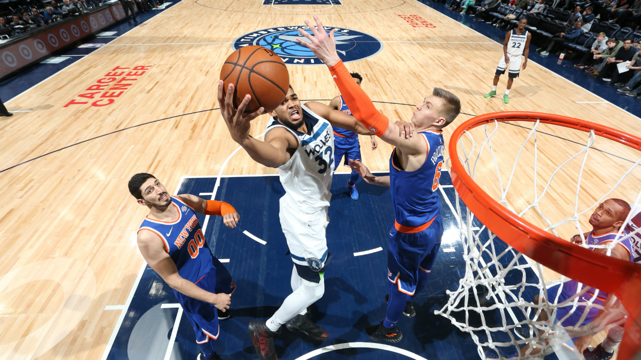 Towns' Near Triple-Double Leads Wolves Over Knicks