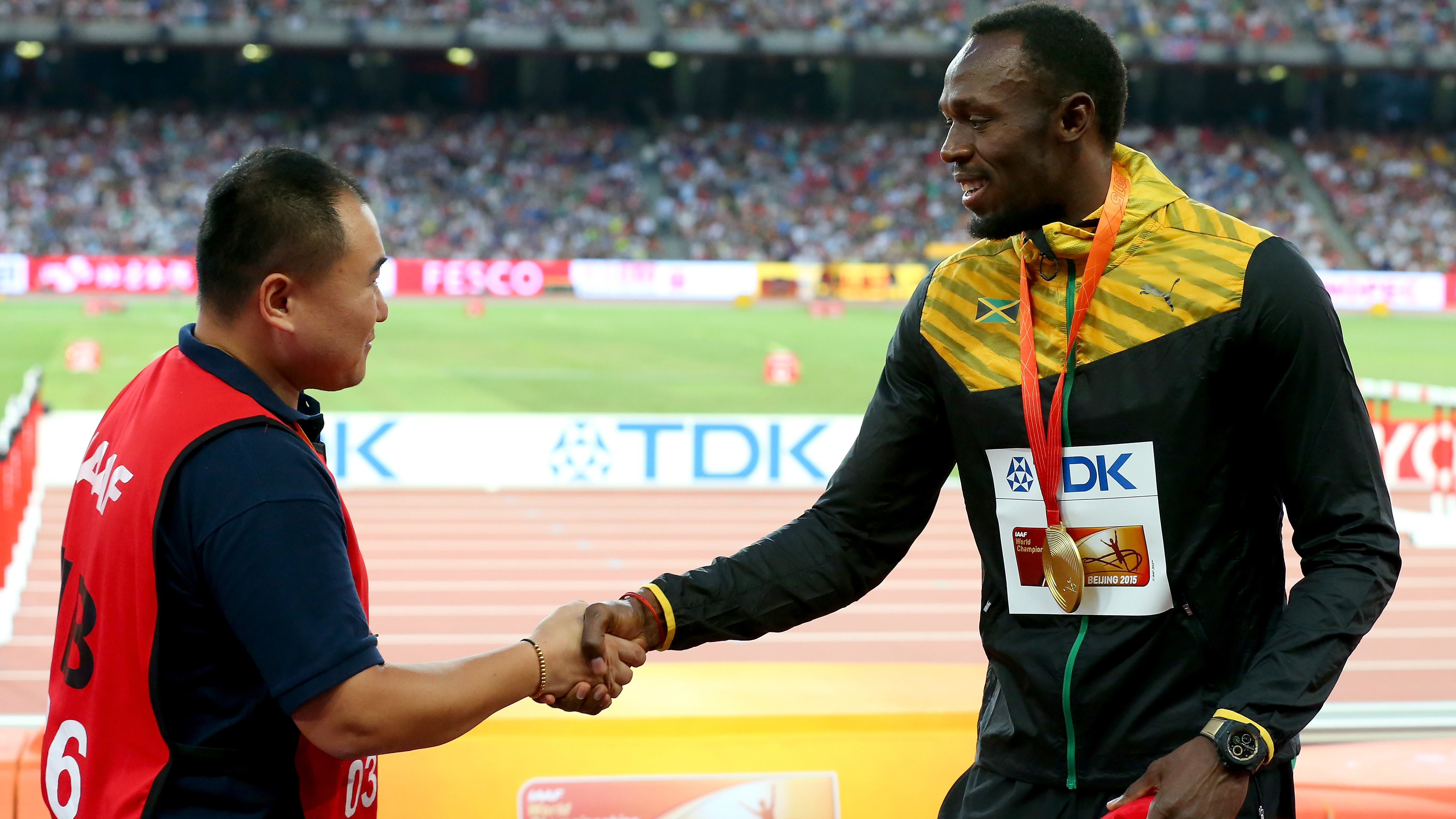 Tao Song and Usain Bolt