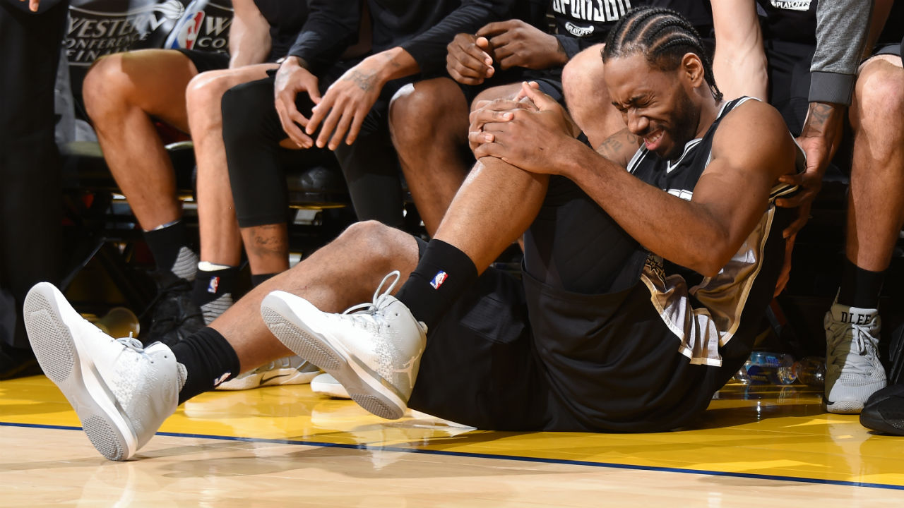 Gregg Popovich said Kawhi Leonard's quadriceps injury was from a year ago