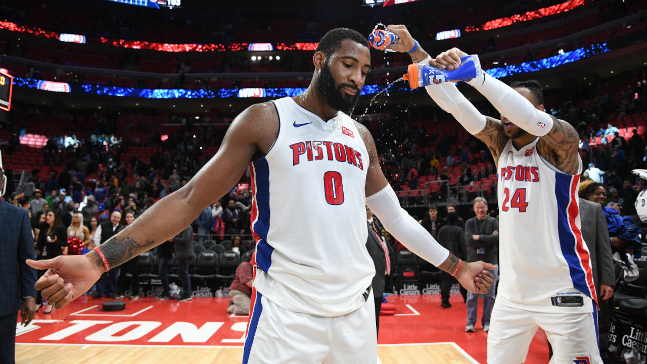 Drummond drops 20 and 20 as Pistons top Wizards