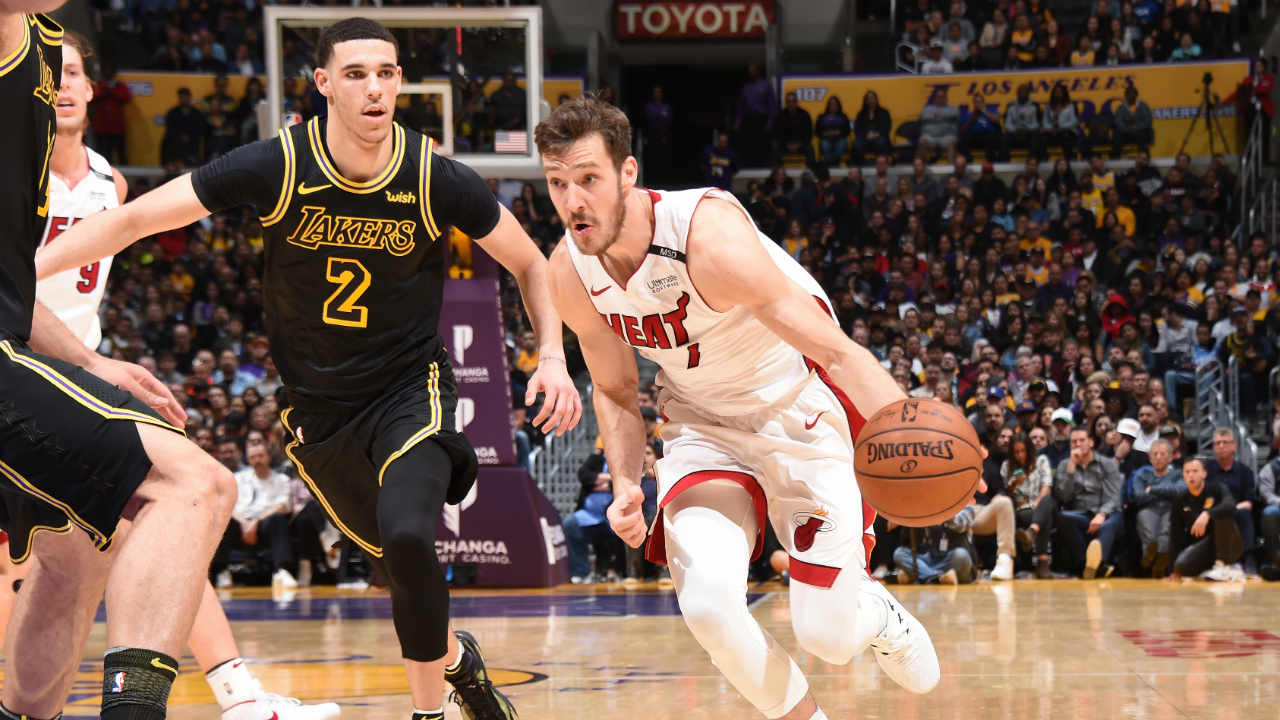 Dragic's clutch lay-up gives Heat the win over the Lakers