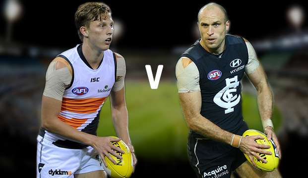 AFL. GWS Giants vs Carlton Blues