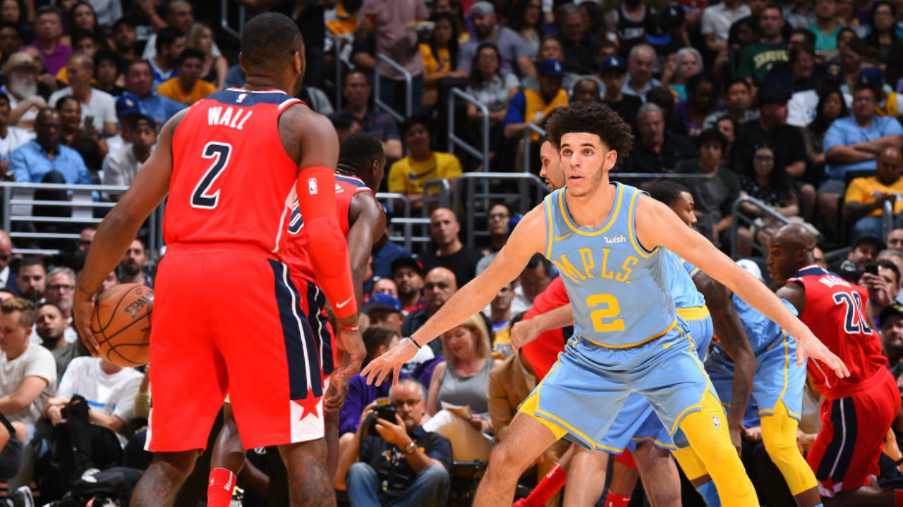 La Lakers Lonzo Ball Stats >> 'Offended' Lakers 'defended' Lonzo Ball vs. Wizards, John Wall   NBA   Sporting News