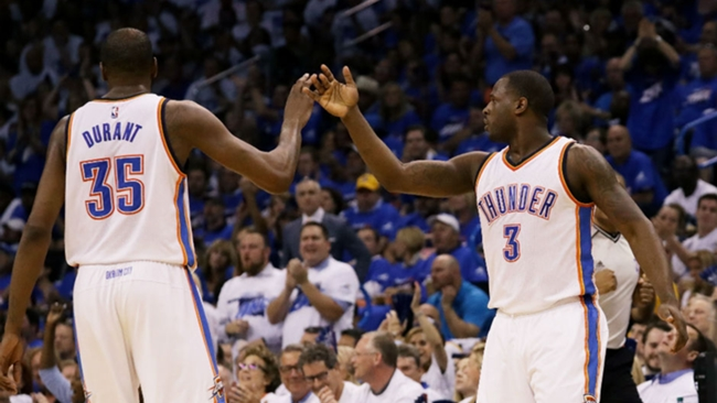 Kevin Durant and Dion Waiters