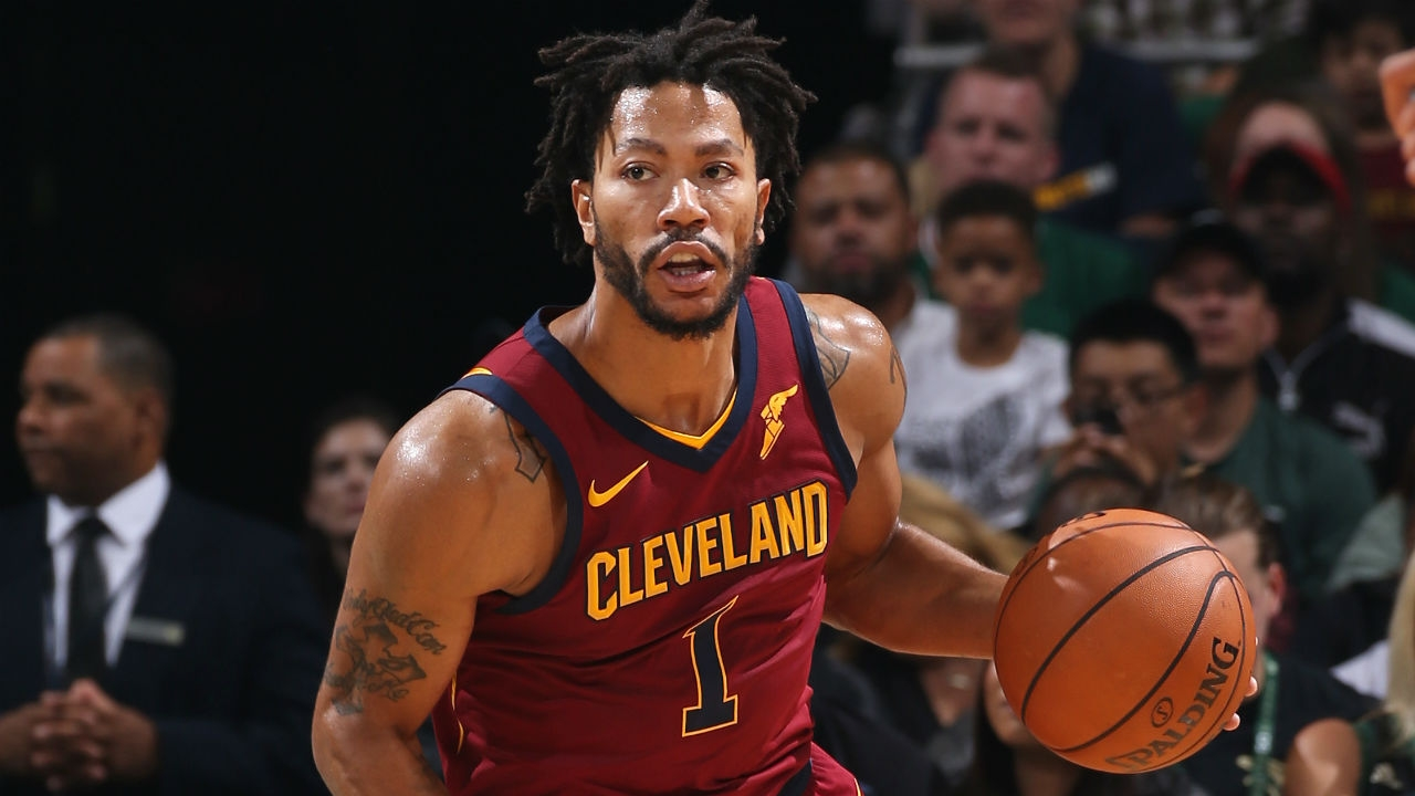Derrick rose leaves cavs game with ankle injury nba - Derrick rose cavs wallpaper ...